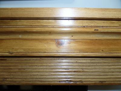 antique regency wood mantel