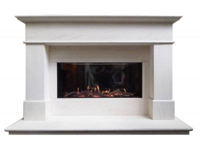 Limestone fireplace suite