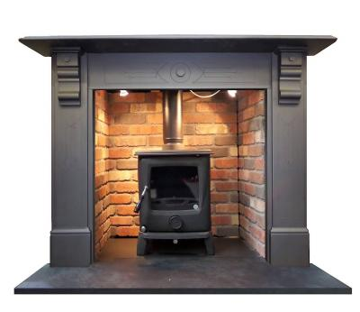 Britain`s Heritage antique slate surround with stove