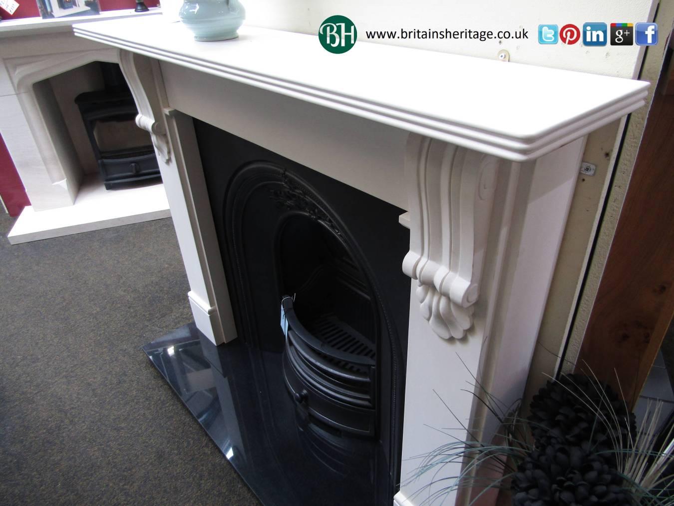 Buy Online Chartwell Agean Limestone Mantel Fireplace Surround