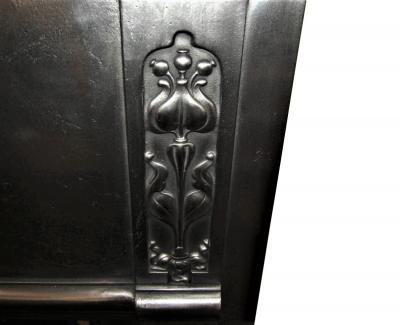 antique art Nouveau surround cast iron