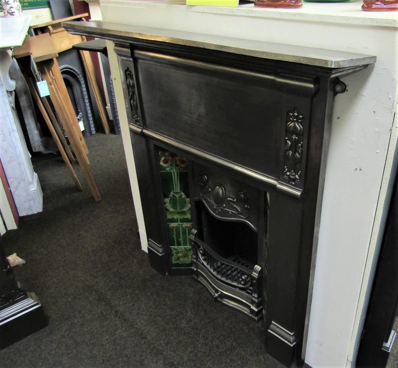 Buy Online Art Nouveau Original Burnished Cast Iron Stove