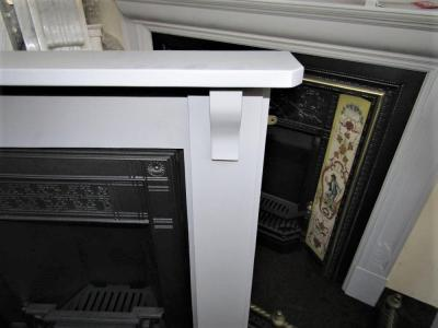 antique painted wood surround