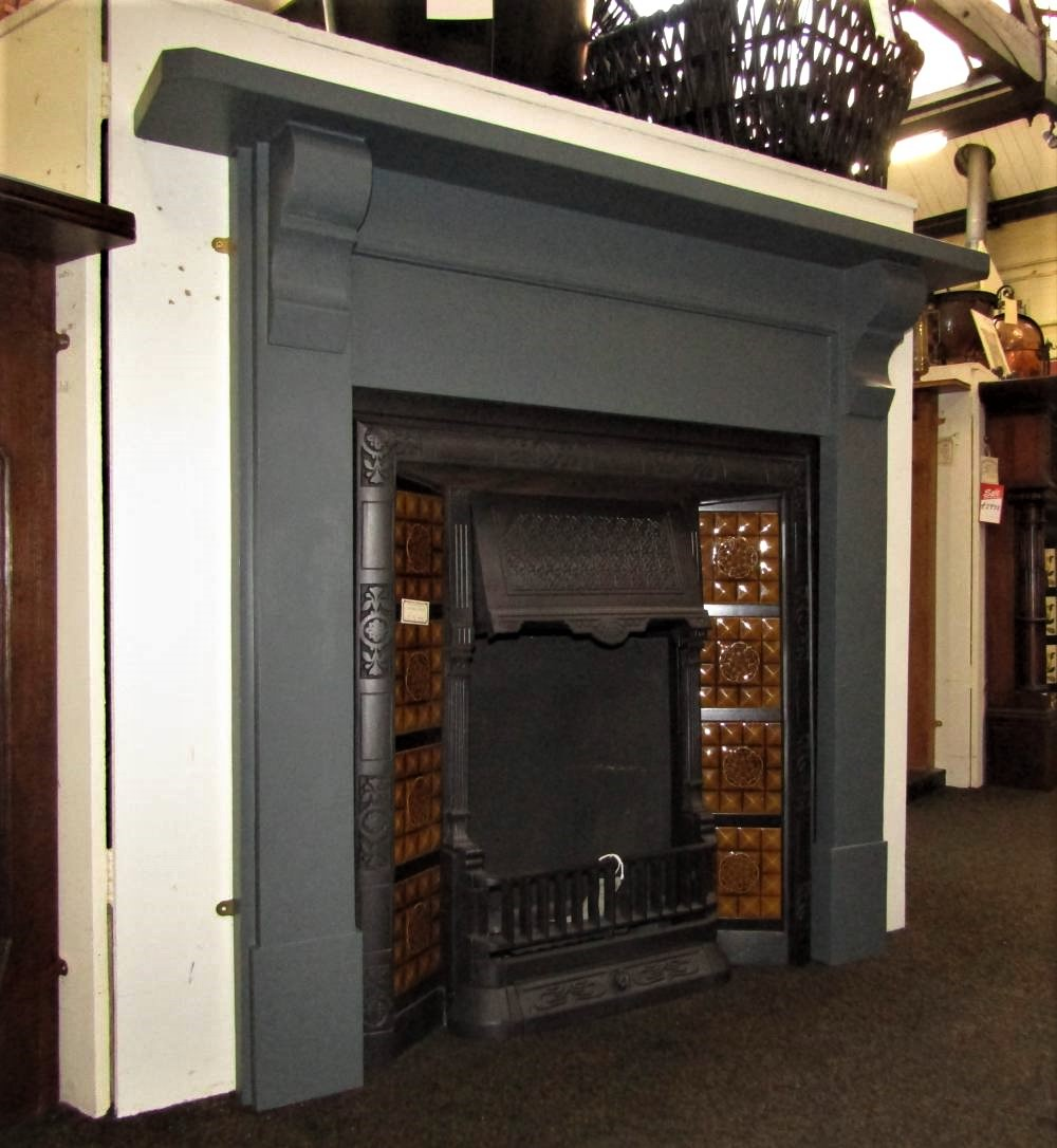 Buy Online Antique Edwardian Wood Painted Fireplace Surround