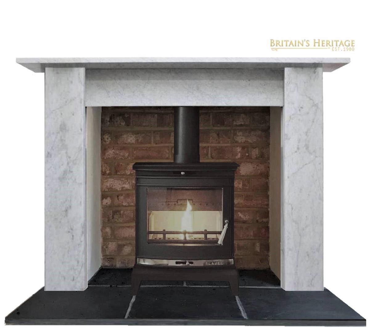 Buy Online The Simple Carrara Marble Fireplace Surround