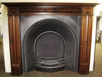 Georgian Pine Surround in Jacobean Oak Finish