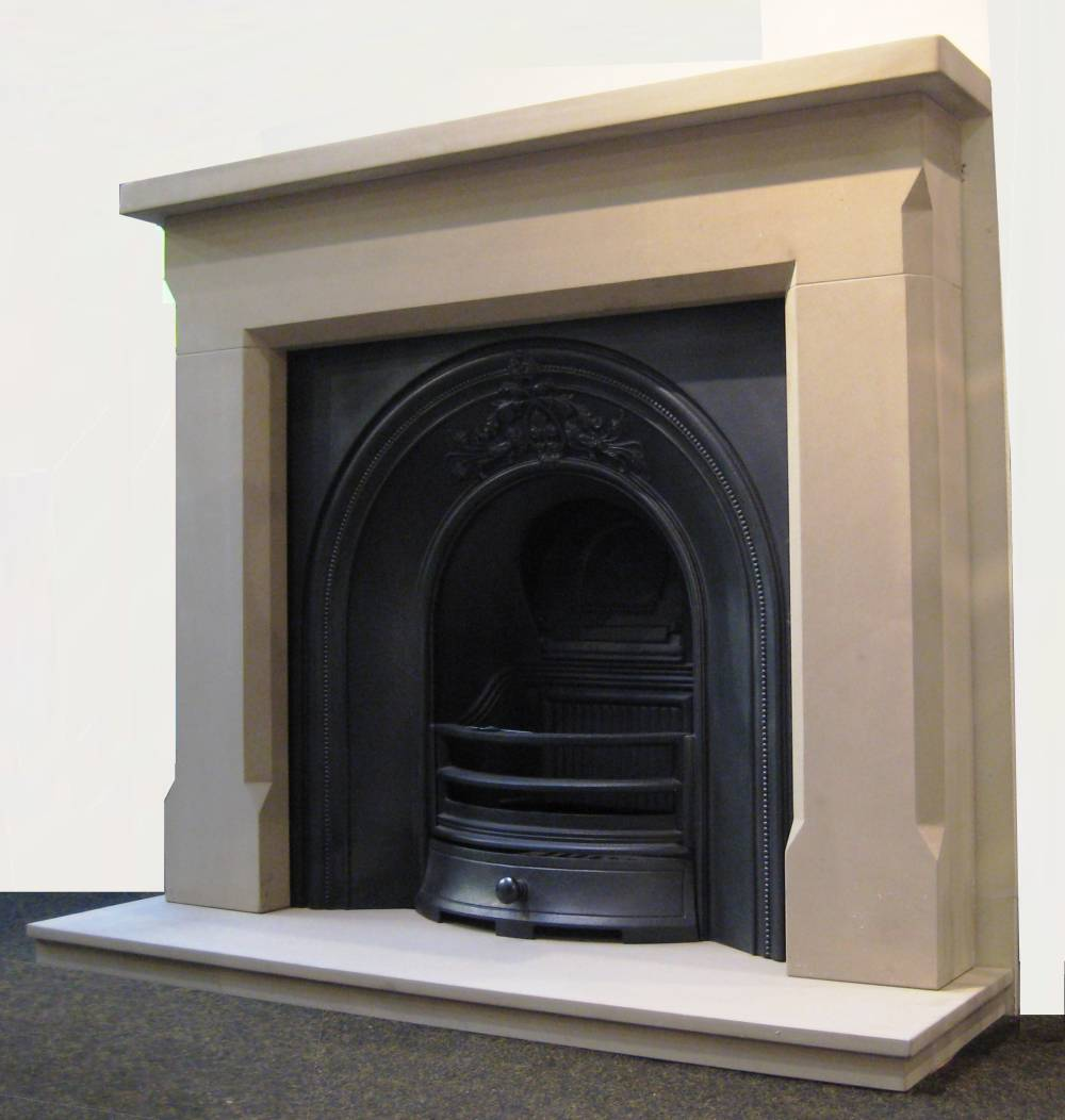 how to clean sandstone fireplace surround