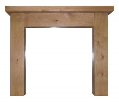 OAK MANTEL SURROUND FIREPLACE