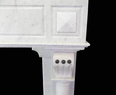 ANTIQUE 19TH CENTURY CONTINENTAL TALL MARBLE SURROUND.