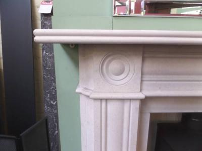 Regency Bullseye Period Limestone Surround