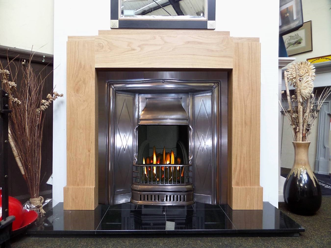 Buy Online Art Deco Oak Wood Mantel Fireplace Surround
