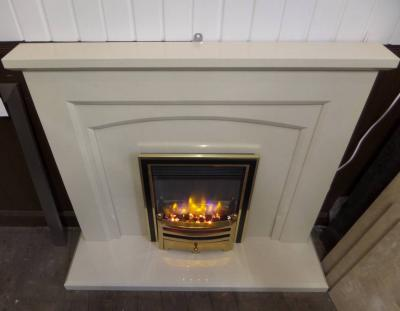 micro marble fireplace suite