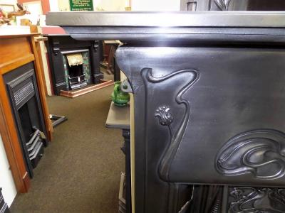 antique stove surround