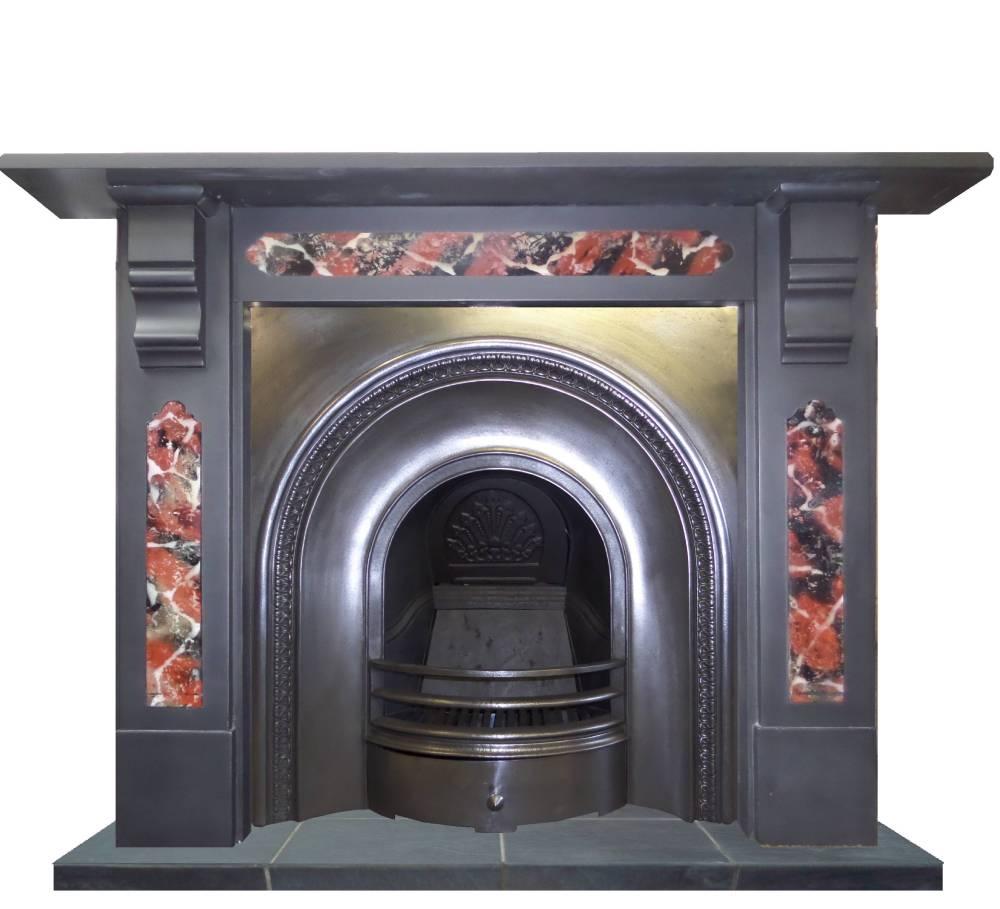 antique edwardian slate mantel fireplace surround. Black Bedroom Furniture Sets. Home Design Ideas