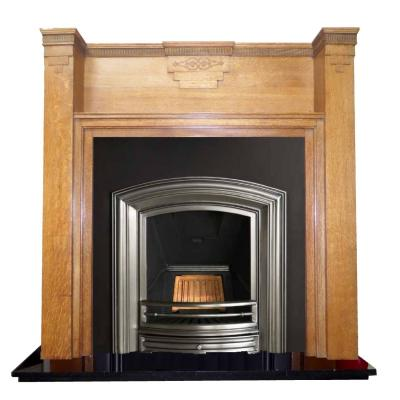 antique wood mantel fireplace surround