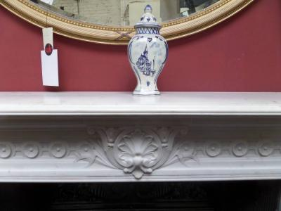 Antique Impressive Statuary Marble Georgian / Victorian Surround