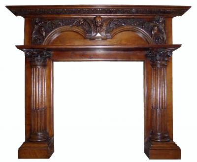 antique georgian mantel fireplace