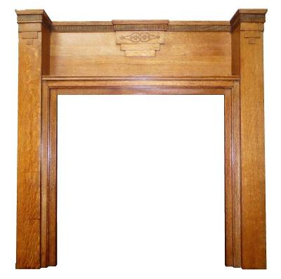 antique art deco mantel piece