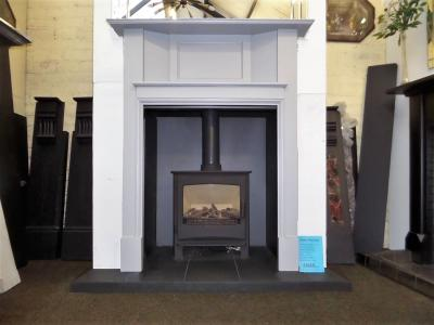 Painted 1920`s fireplace / GAS STOVE surround