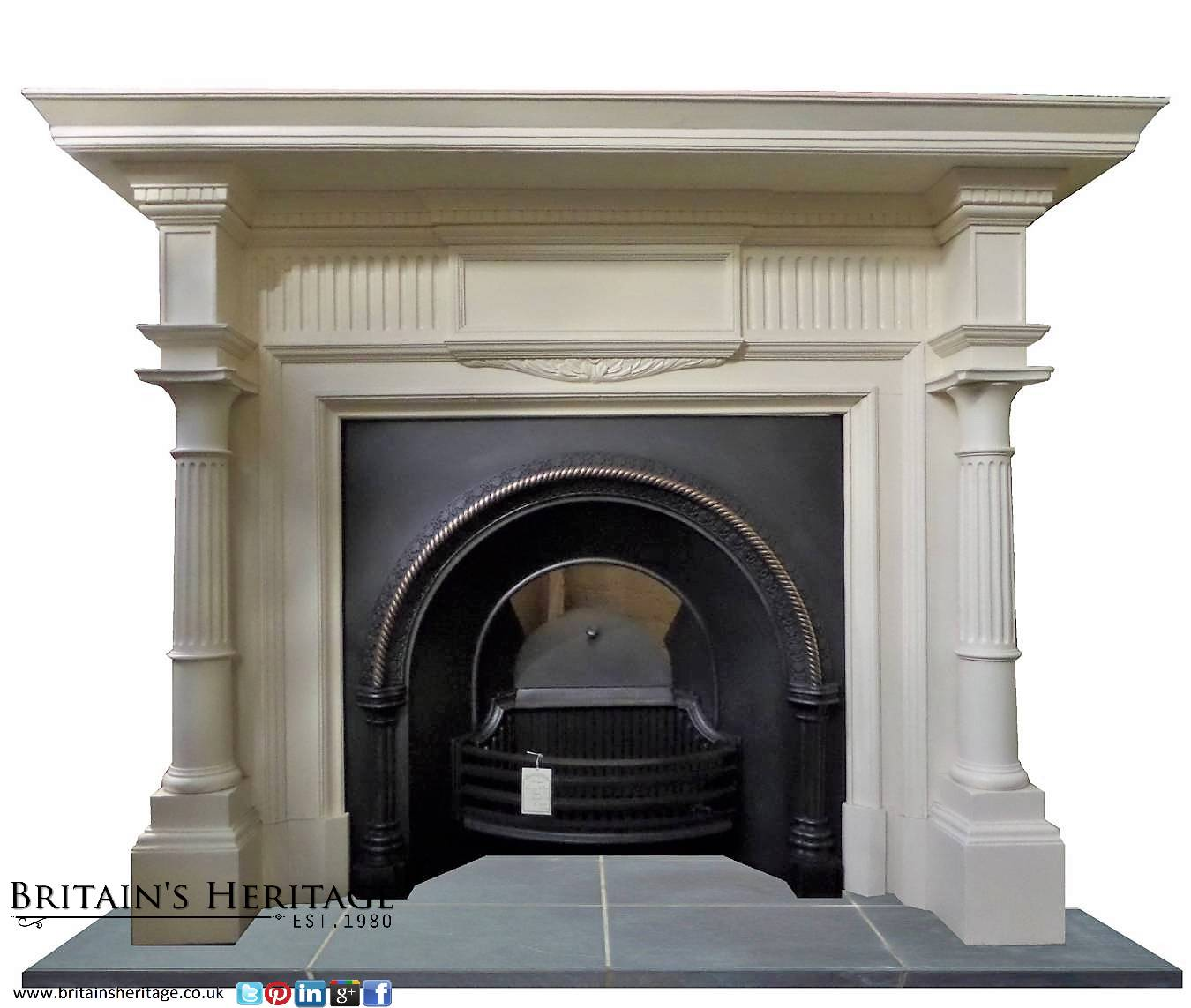 Buy Online: Antique Regency Victorian Painted Wood Mantel ...