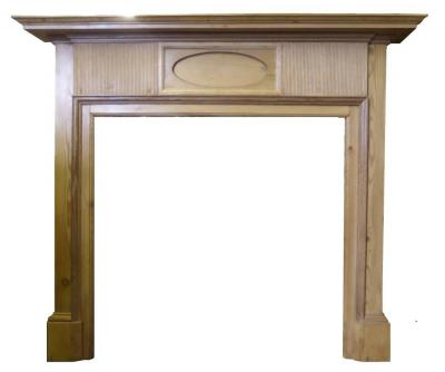 ANTIQUE EDWARDIAN REGENCY PINE SURROUND