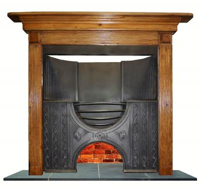 antique wood mantels