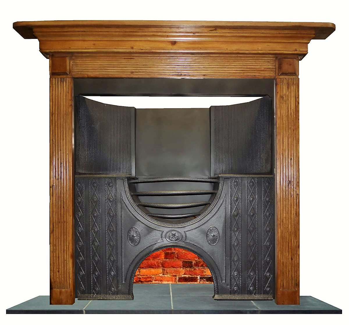 Antique Georgian Pine Mantel Fireplace Surround