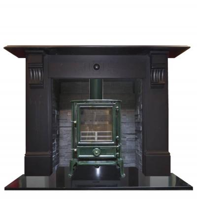 aNTIQUE aRTS AND CRAFT SLATE MANTEL