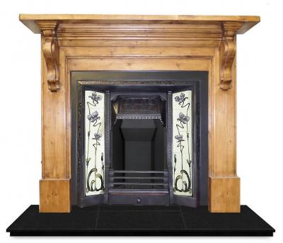 antique wood mantel surround
