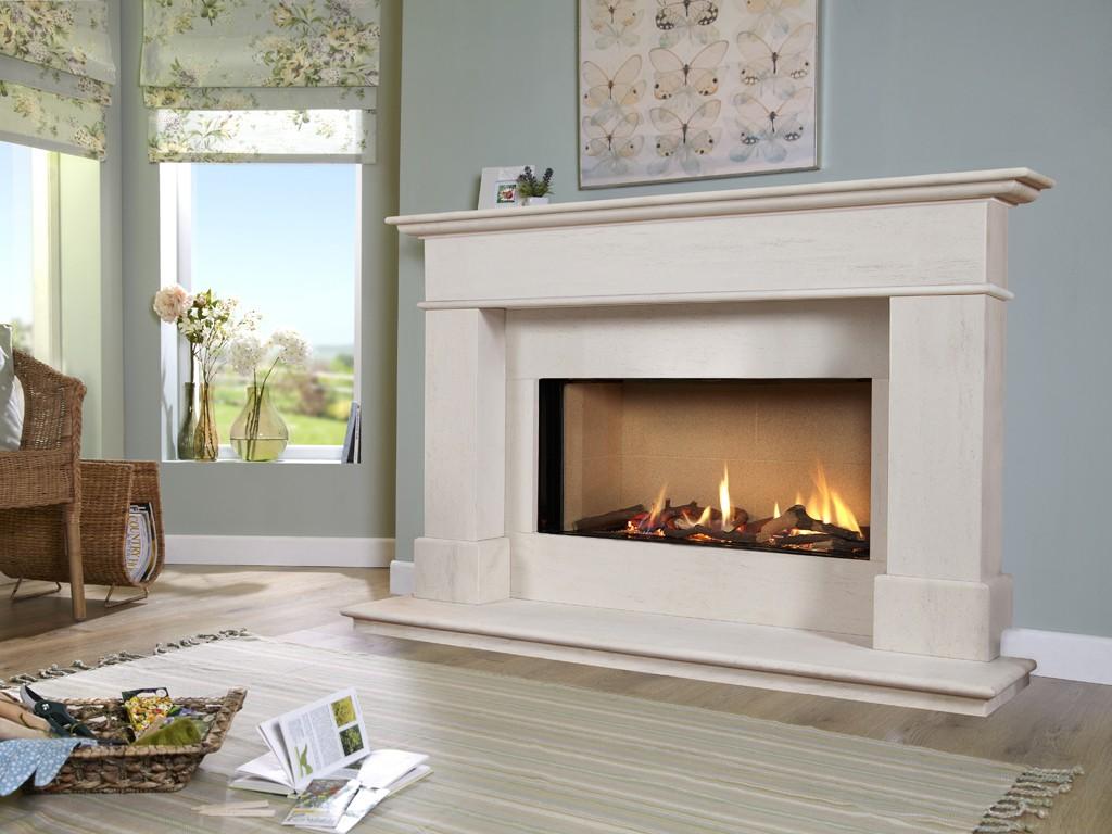 Buy Online Portuguese Limestone Elite 54 Gas Fire Suite