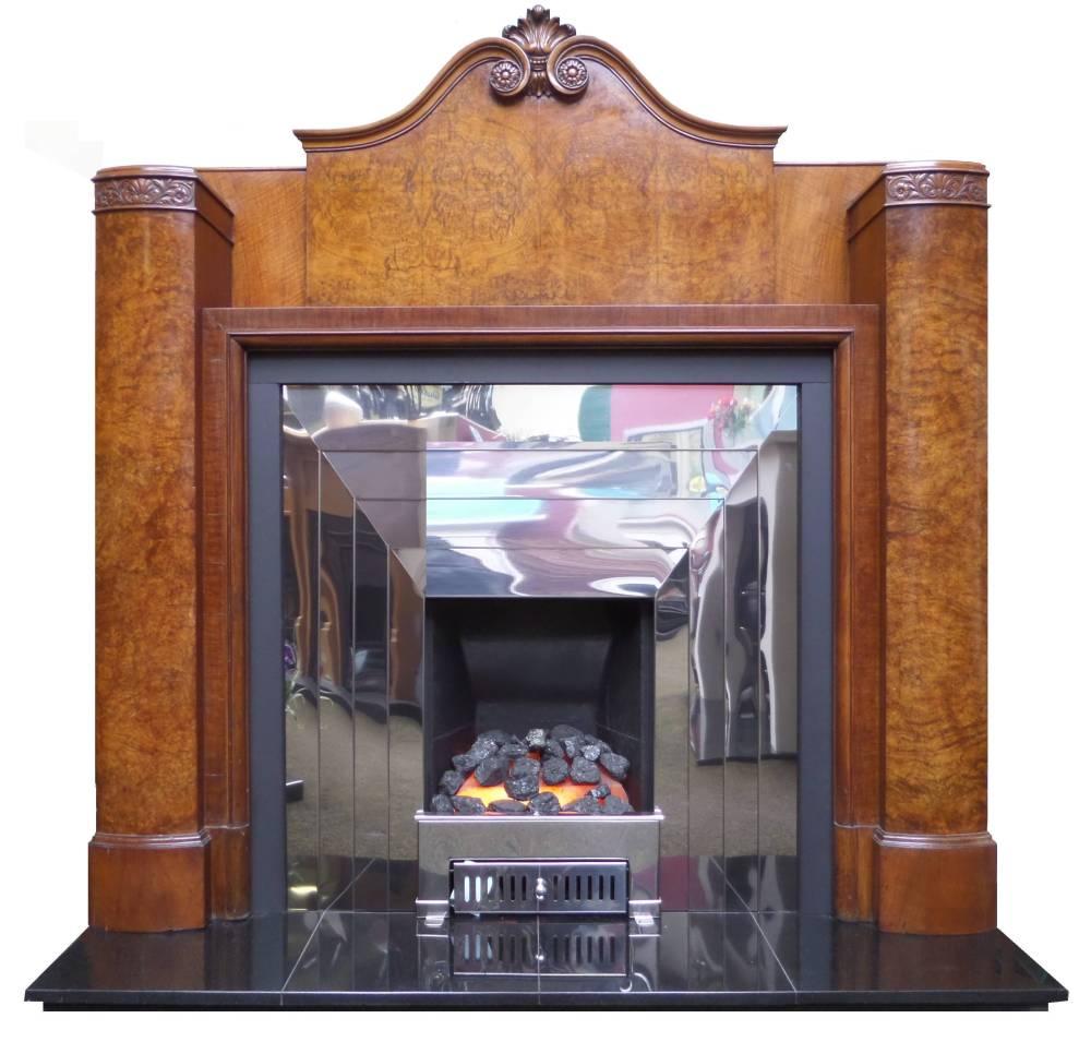 Buy Online Antique Art Deco Burr Walnut Veneered Wood