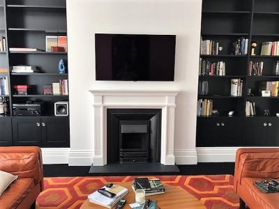 fitted surround mantel
