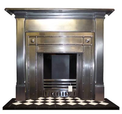 art deco mantel cast iron fireplace