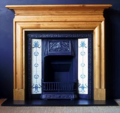 Nouveau Pine Mantel Fireplace Surround