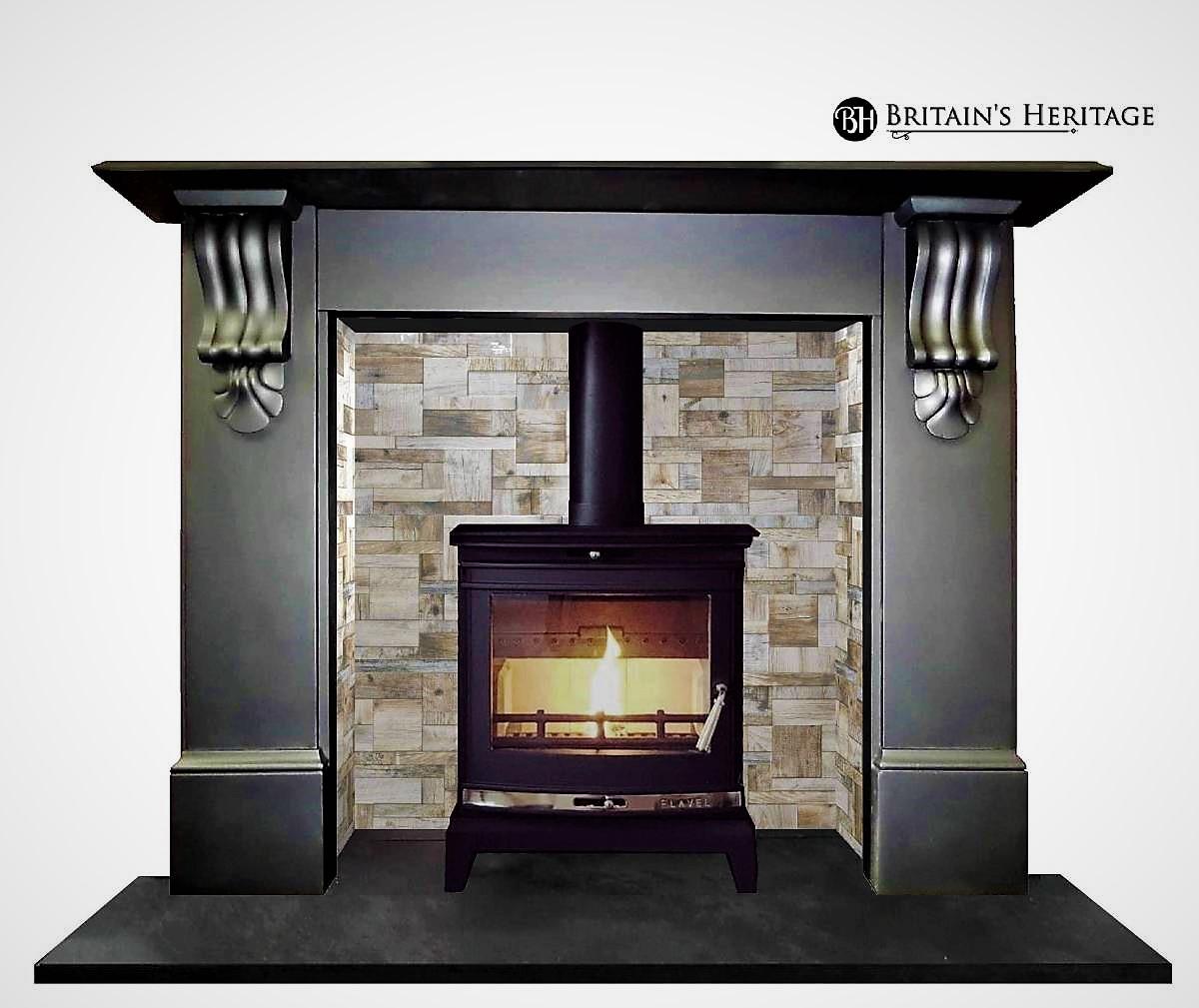Buy Online: Antique Victorian Slate Mantel Fireplace Surround