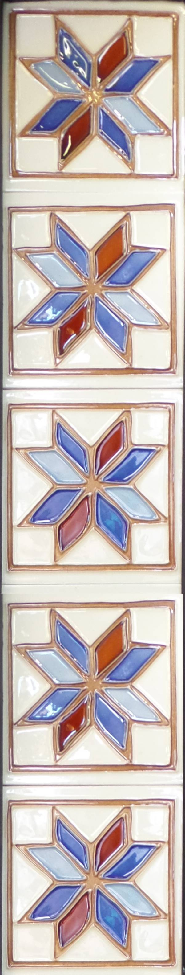 Reproduction Star Retro Tile Set.