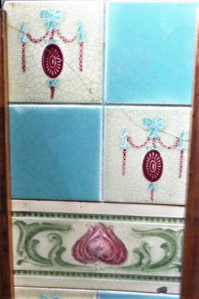 victorian tile fireplace set