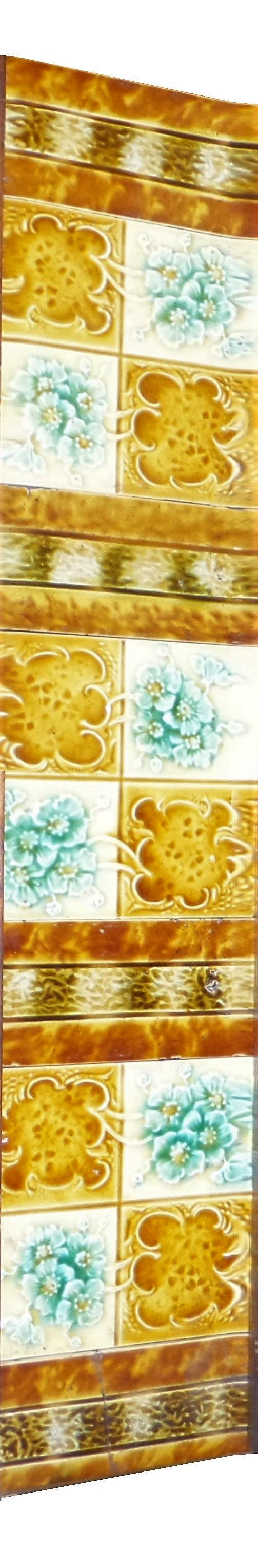 antique fireplace tiles set
