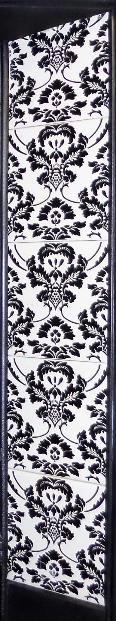flock victorian fireplace tiles